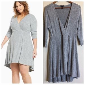 Torrid Knit Faux Wrap Skater Dress
